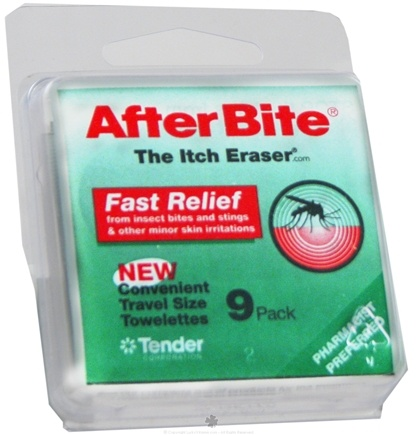 DROPPED: After Bite - AfterBite Insect Bite Relief Wipes - 9 Wipe(s)