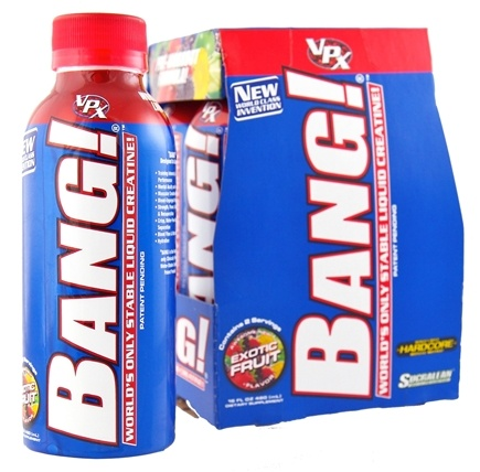 DROPPED: VPX - Bang  RTD Stable Liquid Creatine Drink Exotic Fruit - 4 Pack(s)