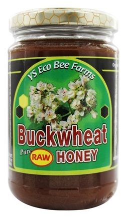 YS Organic Bee Farms - Buckwheat Pure Raw Honey - 13.5 oz.
