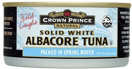 DROPPED: Crown Prince Natural - Solid White Albacore Tuna - 6 oz. CLEARANCE PRICED