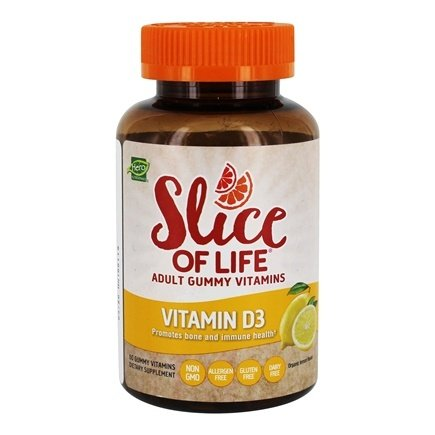 Hero Nutritional Products - Slice of Life Vitamin D3 Adult Gummy Vitamins - 60 Gummies
