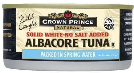 DROPPED: Crown Prince Natural - Solid White Albacore Tuna No Salt Added - 6 oz. CLEARANCE PRICED