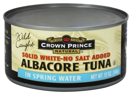 DROPPED: Crown Prince Natural - Solid White Albacore Tuna No Salt Added - 12 oz.
