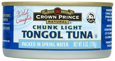 DROPPED: Crown Prince Natural - Chunk Light Tongol Tuna - 6 oz. CLEARANCE PRICED