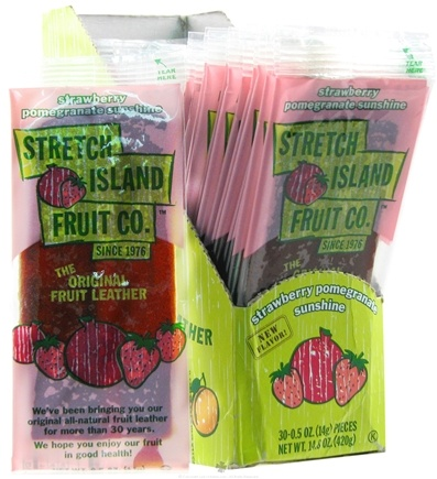 DROPPED: Stretch Island Fruit - Original Fruit Leather Strawberry Pomegranate Sunshine - 0.5 oz.
