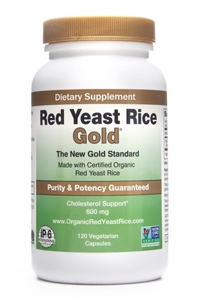 IP-6 International, Inc. - IP-6 Red Yeast Rice Gold 600 mg. - 120 Vegetarian Capsules