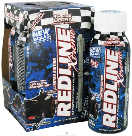DROPPED: VPX - Redline Xtreme RTD Energy Drink 4 x 8 oz. Triple Berry - 4 Pack
