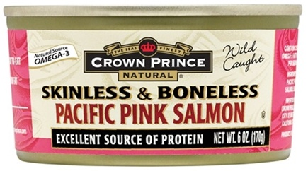 DROPPED: Crown Prince Natural - Skinless and Boneless Pacific Pink Salmon - 6 oz. CLEARANCE PRICED