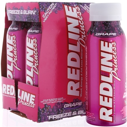 DROPPED: VPX - Redline Princess RTD Energy Drink 4 x 8oz. (4 pack) Grape