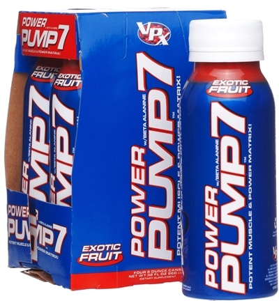 DROPPED: VPX - Power Pump 7 RTD With Beta Alanine Muscle Power Matrix 4 x 8 oz. Exotic Fruit - 4 Pack CLEARANCE PRICED