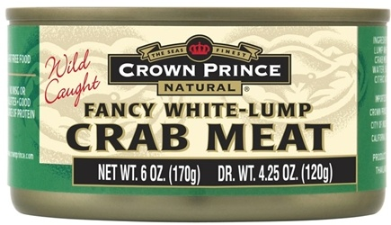 DROPPED: Crown Prince Natural - Fancy White Lump Crab Meat - 6 oz. CLEARANCE PRICED