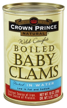 DROPPED: Crown Prince Natural - Boiled Baby Clams - 10 oz.