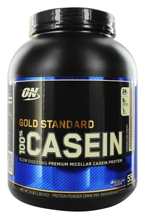 Optimum Nutrition - 100% Casein Gold Standard Cookies & Cream - 4 lbs.