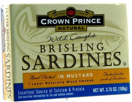 DROPPED: Crown Prince Natural - Brisling Sardines in Mustard - 3.75 oz. CLEARANCED PRICED