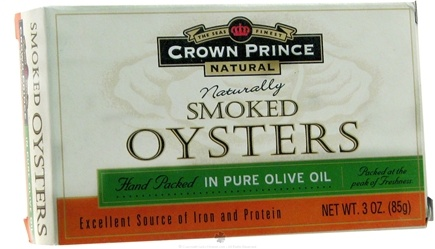 DROPPED: Crown Prince Natural - Smoked Oysters in Pure Olive Oil - 3 oz.