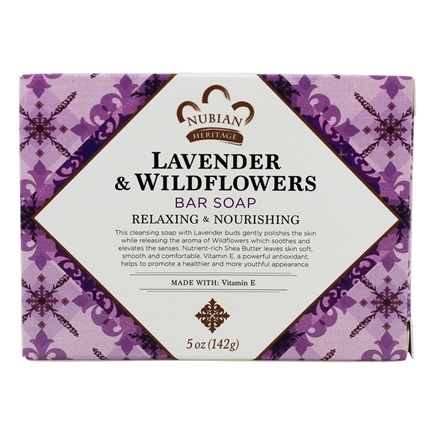 Nubian Heritage - Bar Soap Shea Butter with Lavender & Wildflowers - 5 oz.