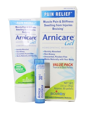 Boiron - Arnicare Arnica Gel Value Pack + 1 - 30C Arnica Montana Blue Tube! (75 g) - 2.6 oz.