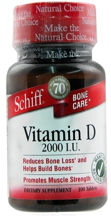 DROPPED: Schiff - Vitamin D 2000 IU - 100 Tablets CLEARANCE PRICED