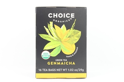 Choice Organic Teas - Genmaicha Green Tea - 16 Tea Bags Formely Organic Green with Toasted Brown Rice