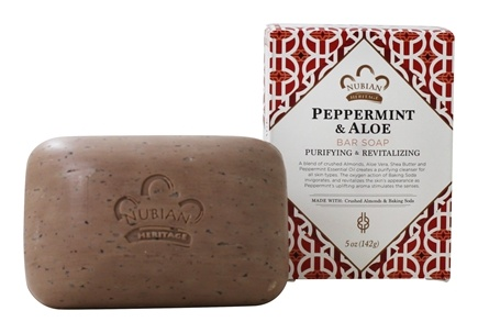 Nubian Heritage - Bar Soap Peppermint & Aloe - 5 oz.