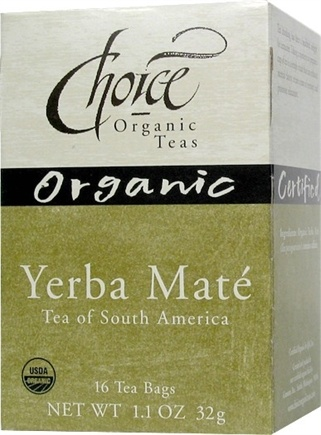 DROPPED: Choice Organic Teas - Yerba Mate Tea of South America - 16 Tea Bags