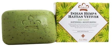 Nubian Heritage - Bar Soap Indian Hemp & Haitian Vetiver - 5 oz.