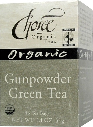 DROPPED: Choice Organic - Gunpowder Green Tea - 16 Tea Bags
