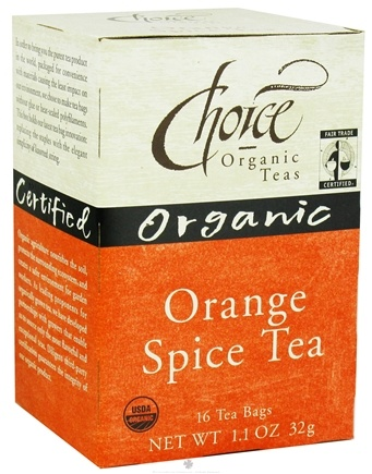DROPPED: Choice Organic Teas - Orange Spice Tea - 16 Tea Bags CLEARANCE PRICED