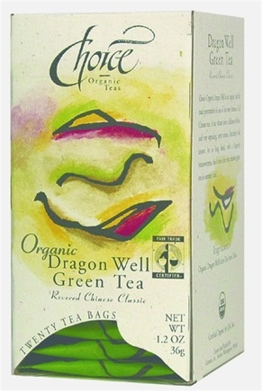 DROPPED: Choice Organic - Gourmet Dragon Well Green Tea - 20 Tea Bags