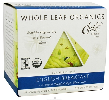 DROPPED: Choice Organic Teas - Whole Leaf English Breakfast Tea - 15 Tea Pyramid(s)