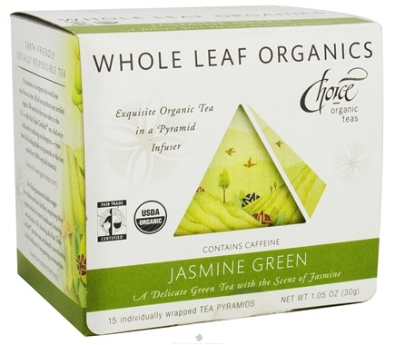 DROPPED: Choice Organic Teas - Whole Leaf Jasmine Green Tea - 15 Tea Pyramid(s)