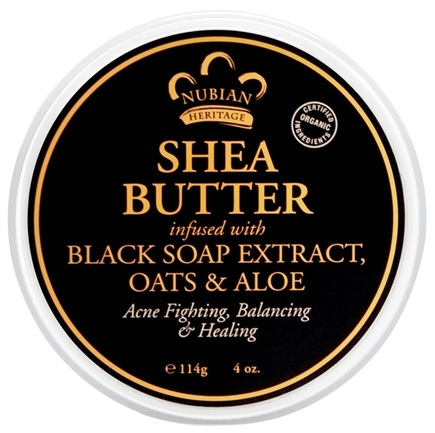 Nubian Heritage - Shea Butter Infused With Black Soap Extract, Oats & Aloe - 4 oz.