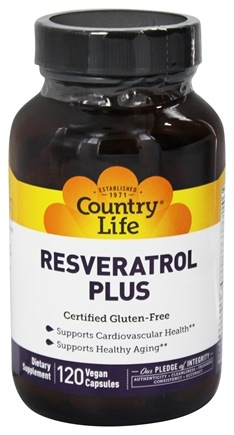 Country Life - Resveratrol Plus - 120 Vegetarian Capsules LUCKY DEAL
