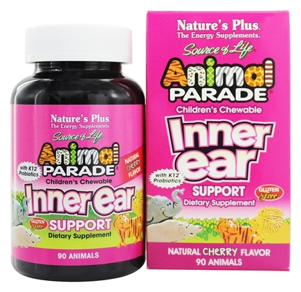 Nature's Plus - Animal Parade Inner Ear Support Cherry - 90 Chewable Tablets