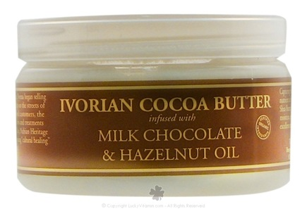DROPPED: Nubian Heritage - Ivorian Cocoa Butter Infused With Milk Chocolate & Hazelnut Oil - 4 oz.
