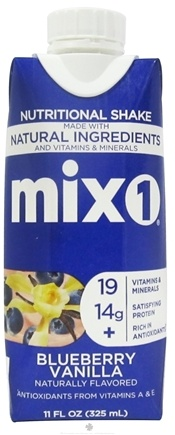DROPPED: Mix1 - All-Natural Protein & Antioxidant Drink Blueberry Vanilla - 11 oz.