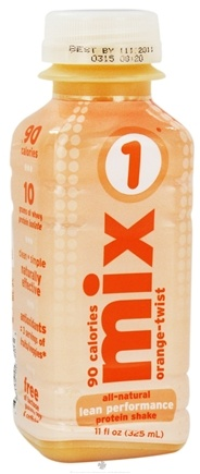 DROPPED: Mix1 - All-Natural Lean Performance Protein Shake Orange Twist - 11 oz. CLEARANCE PRICED