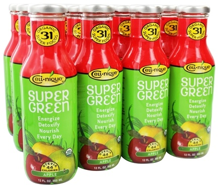 Cell Nique - Super Green Drink Apple - 12 oz.