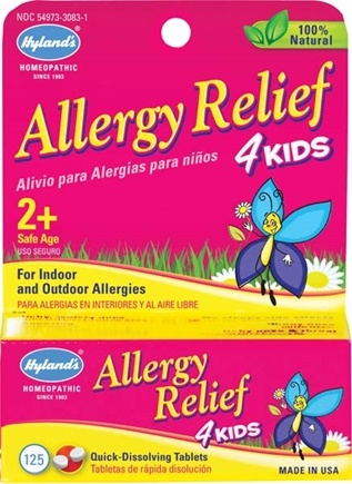 DROPPED: Hylands - Allergy Relief 4 Kids - 125 Tablets