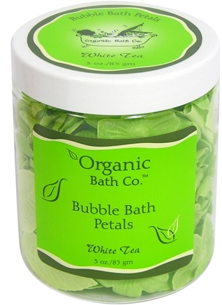 DROPPED: Organic Bath Company - Bubble Bath Petals White Tea CLEARANCE PRICED - 3 oz.