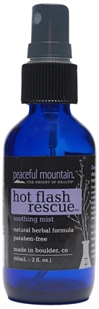 DROPPED: Peaceful Mountain - Hot Flash Rescue Soothing Mist - 2 oz. CLEARANCE PRICED