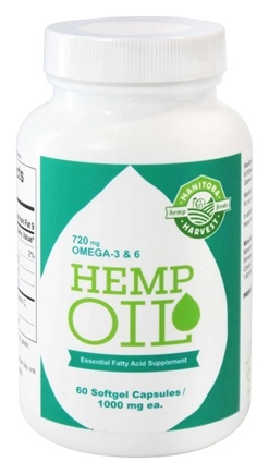 Manitoba Harvest - Hemp Oil Essential Fatty Acid Supplement 1000 mg. - 60 Capsules
