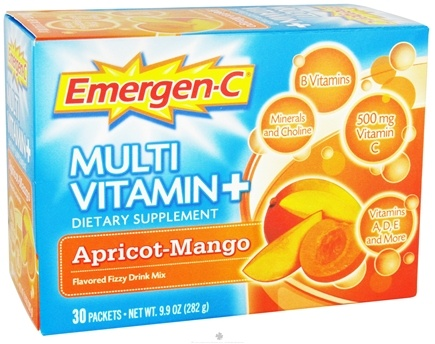 DROPPED: Alacer - Emergen-C Multi-Vitamin Plus Apricot-Mango 500 mg. - 30 Packet(s)