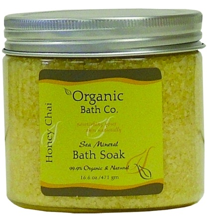 DROPPED: Organic Bath Company - Sea Mineral Bath Soak Honey Chai - 16.6 oz.