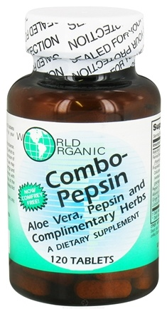 DROPPED: World Organic - Combo-Pepsin - 120 Tablets CLEARANCE PRICED