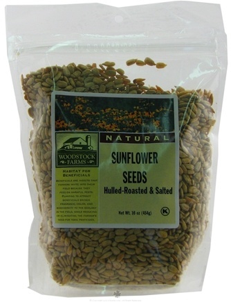 DROPPED: Woodstock Farms - Hulled-Roasted Salted Sunflower Seeds - 16 oz. CLEARANCE PRICED