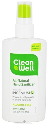 DROPPED: CleanWell - All-Natural Hand Sanitizer - 4 oz.