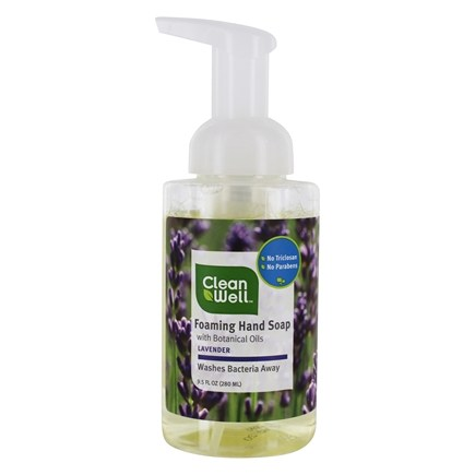 CleanWell - Natural Antibacterial Foaming Hand Wash Lavender & Absolute - 9.5 oz.