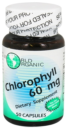 DROPPED: World Organic - Chlorophyll 60 mg. - 50 Capsules CLEARANCE PRICED