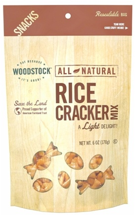 DROPPED: Woodstock Farms - Rice Cracker Mix - 6 oz. CLEARANCE PRICED